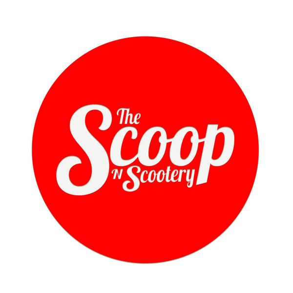 The Scoop N Scootery - Red illuminated sign