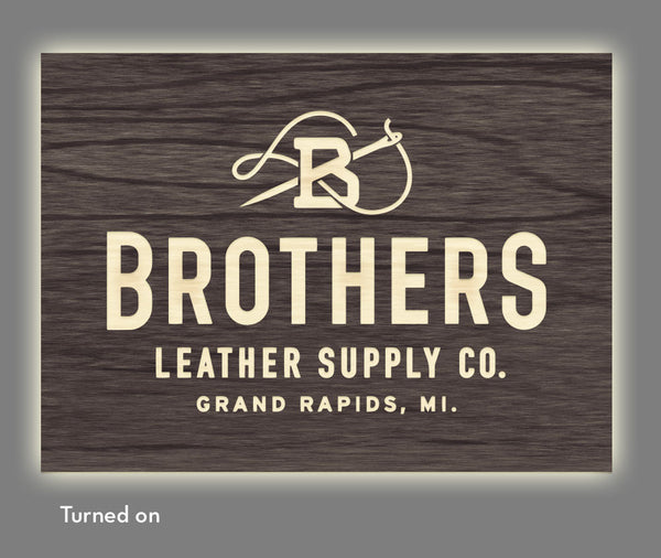 Brothers Leather Supply Co. - Illuminated Sign