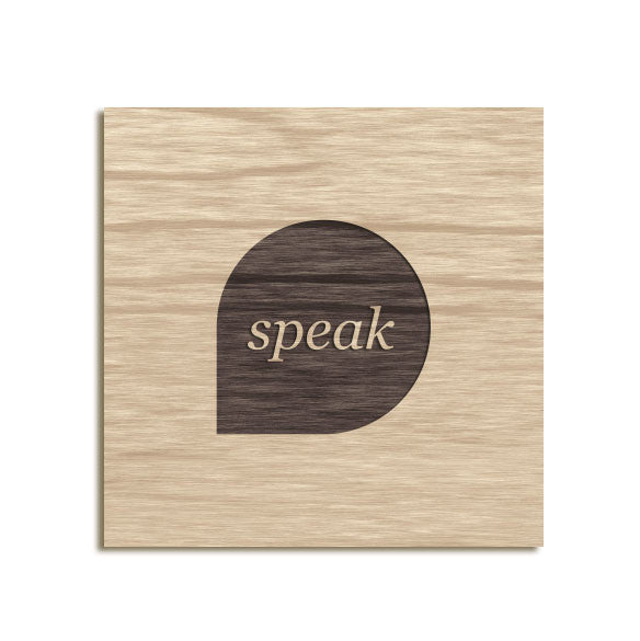 Speak Creative - Etched Sign
