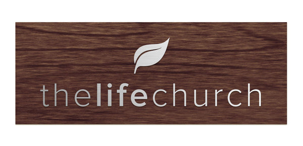 Life Church - Alternate Logo, Raised Sign