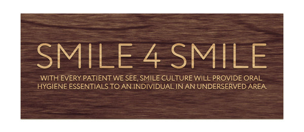 Smile Culture - Raised Sign, Smile 4 Smile