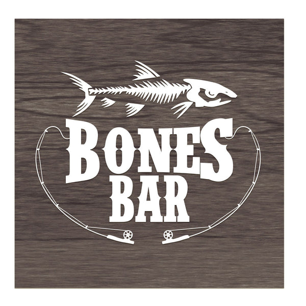Bones Bar - Sign for Post