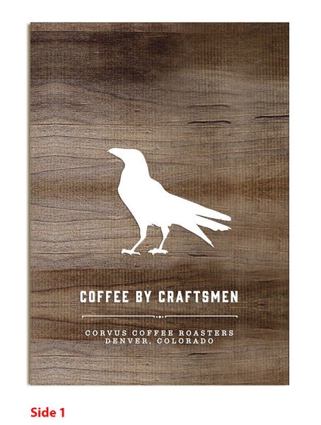 Corvus Coffee - Tabletop Sign