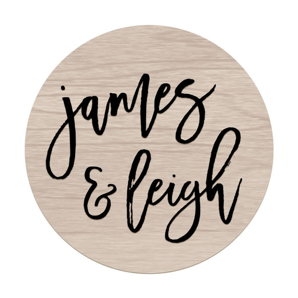 James & Leigh - Raised Sign