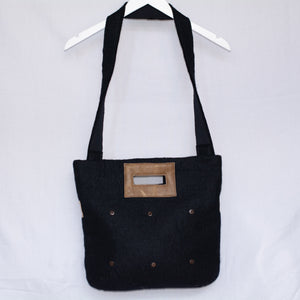 Large Tote Bag with Buttons