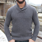 Load image into Gallery viewer, Fanore Textured Shawl Collar Sweater