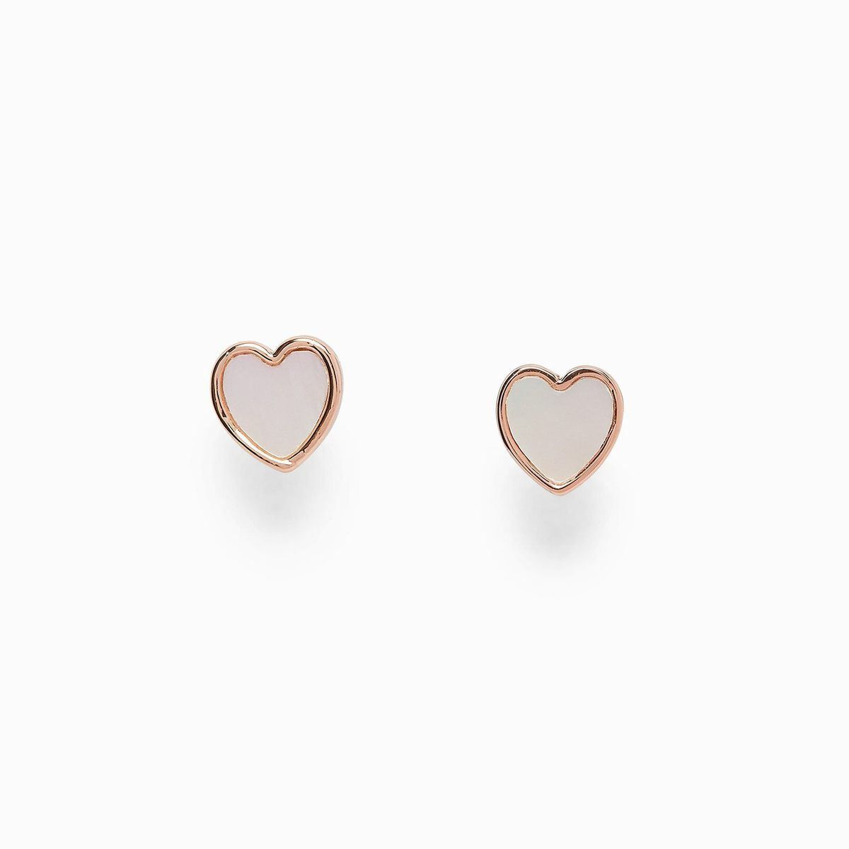 Heart of Pearl Stud Earrings