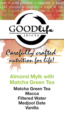 Almond Mylk with Macca & Matcha Green Tea