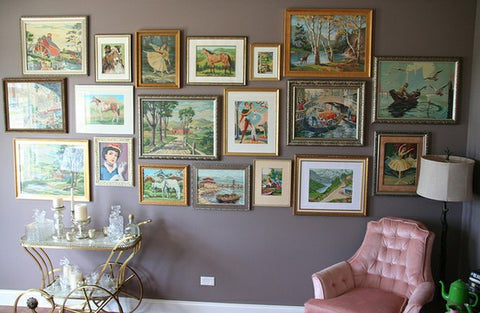Framed Paint by Numbers Paintings