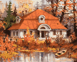 Autumn House Paint by Numbers