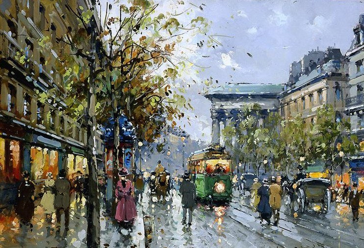 Boulevard de la Madeleine Paris Paint by Numbers