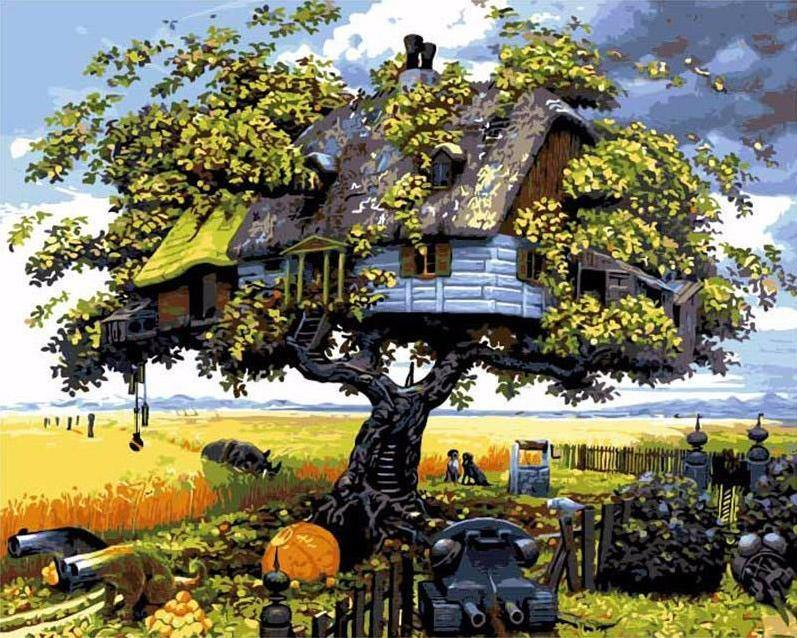 Tree House Paint by Numbers