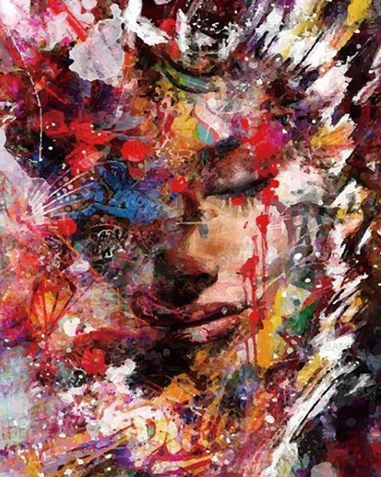 Abstract Portrait Paint by Numbers