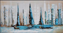 Load image into Gallery viewer, Abstract Sailboats Paint by Numbers