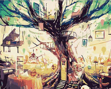 Load image into Gallery viewer, Abstract Tree House Paint by Numbers