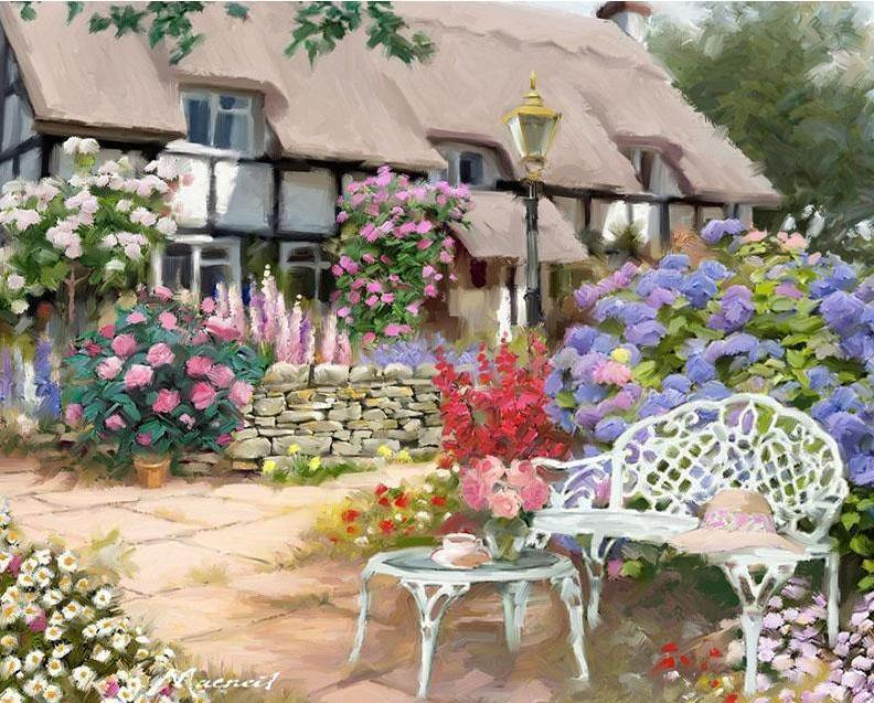Alluring Floral House Paint by Numbers