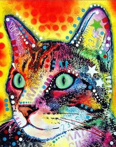 Psychedelic Cat Paint by Numbers