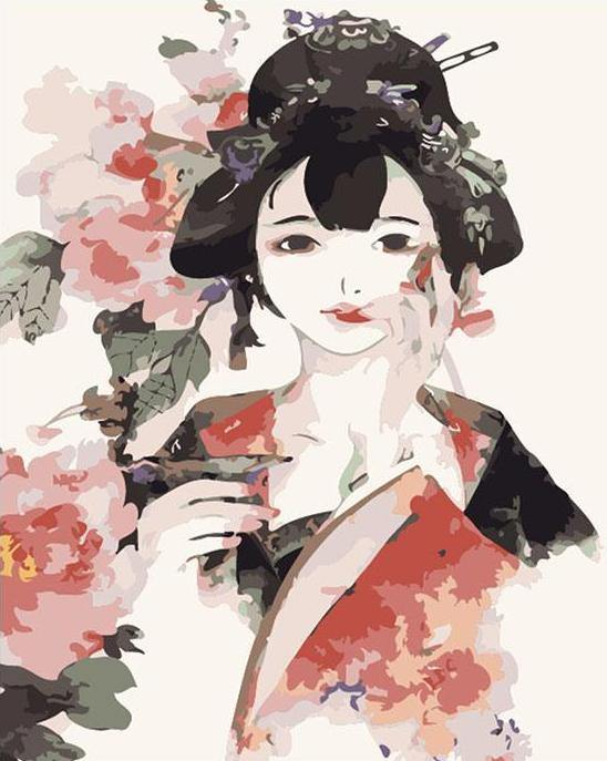 Chinese Girl Paint by Numbers