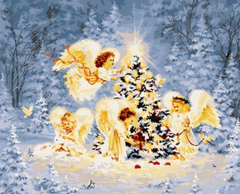 Angel Child Christmas Paint by Numbers