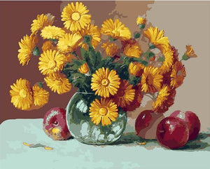 Apples & Sunflowers Paint by Numbers