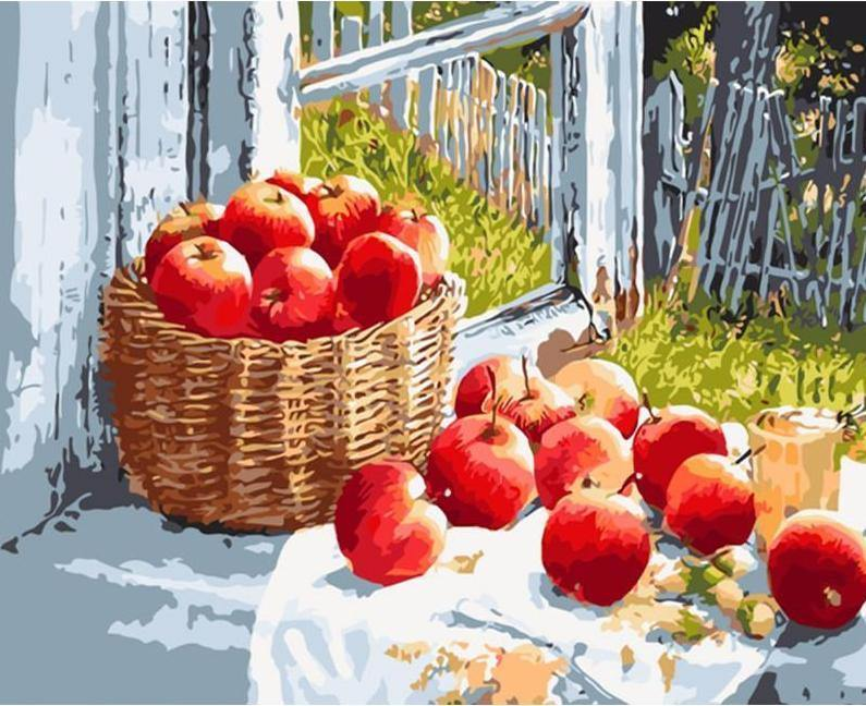 Apples Basket Paint by Numbers