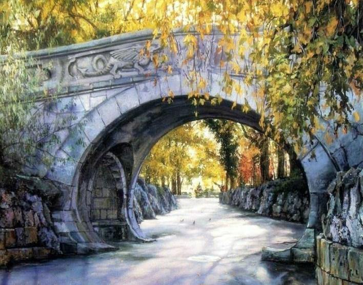 Arch Bridge Painting by Numbers