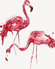 Load image into Gallery viewer, Flamingos Paint by Numbers