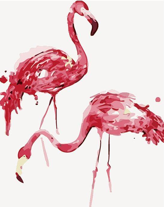 Flamingos Paint by Numbers