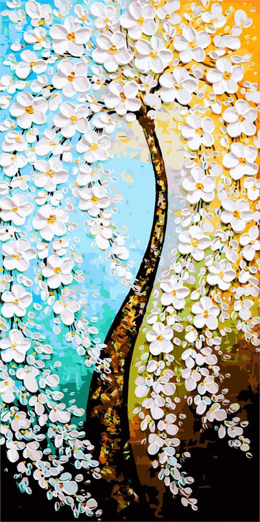 Artistic Flowers Tree Paint by Numbers