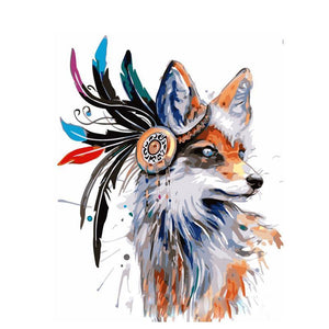 Artistic Fox Paint by Numbers