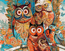 Load image into Gallery viewer, Artistic Owls DIY Painting Kit