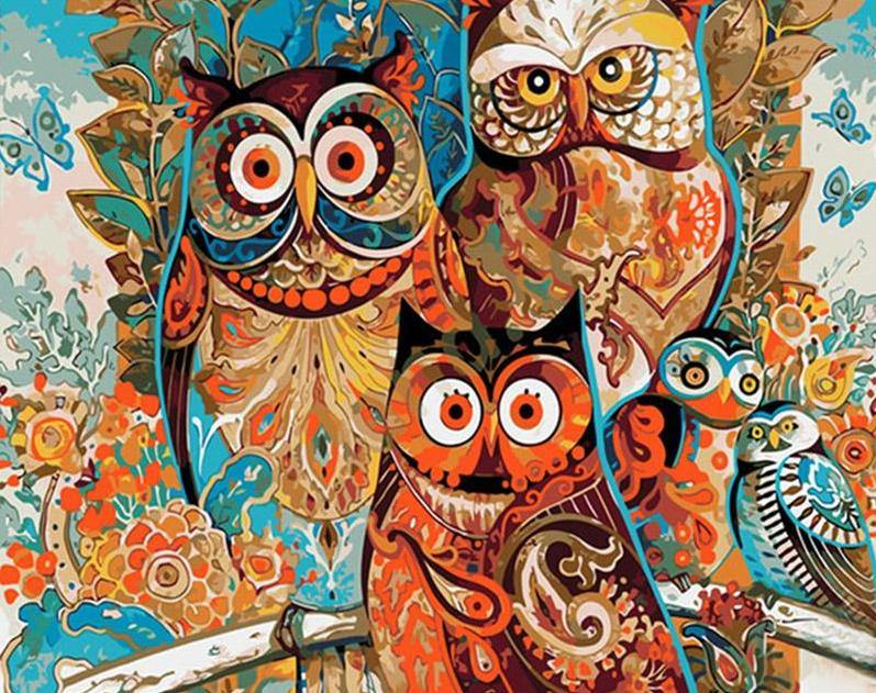 Artistic Owls DIY Painting Kit