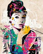 Load image into Gallery viewer, Audrey Hepburn Paint by Numbers