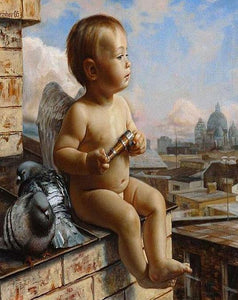 Angel & Pigeons Paint by Numbers