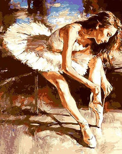Ballerina Dancer Paint by Numbers