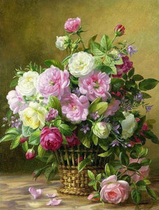 Beautiful Flowers Painting by Numbers