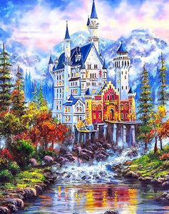 Beautiful Castle Paint by Numbers