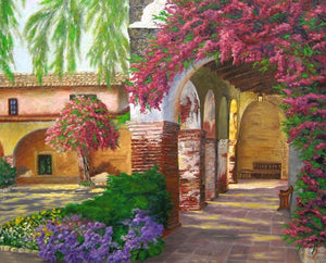 Floral Arch Paint by Numbers