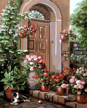 Load image into Gallery viewer, Floral Entrance Paint by Numbers