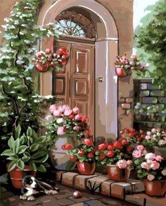 Floral Entrance Paint by Numbers