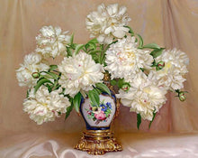 Load image into Gallery viewer, White Peony Paint by Numbers