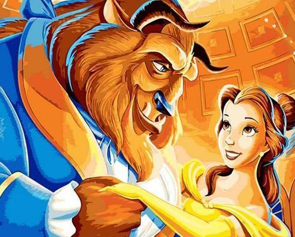 Beauty & the Beast Paint by Numbers