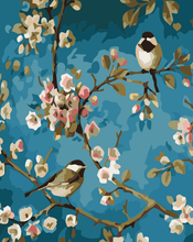 Load image into Gallery viewer, Birds on Tree Paint by Numbers