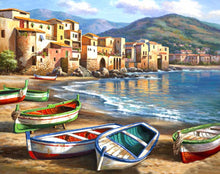 Load image into Gallery viewer, Resting Boats Paint by Numbers