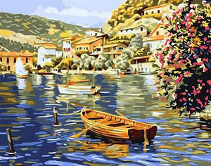 Boats & Town Paint by Numbers