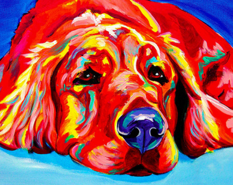 Sad Dog Paint by Numbers