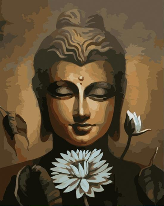 Buddha & White Flower Paint by numbers