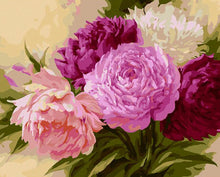 Load image into Gallery viewer, Bunch of Peonies Paint by Numbers