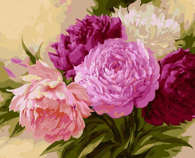 Bunch of Peonies Paint by Numbers
