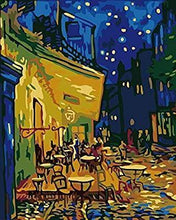 Load image into Gallery viewer, Cafe Terrace at Night Paint by Numbers